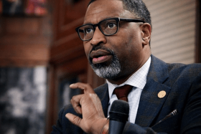NAACP President/CEO Derrick Johnson is among a string of racial justice advocates expressing concern over surveillance technology, including face recognition devices. PHOTO: Sharon Farmer/Journalism Roundtable