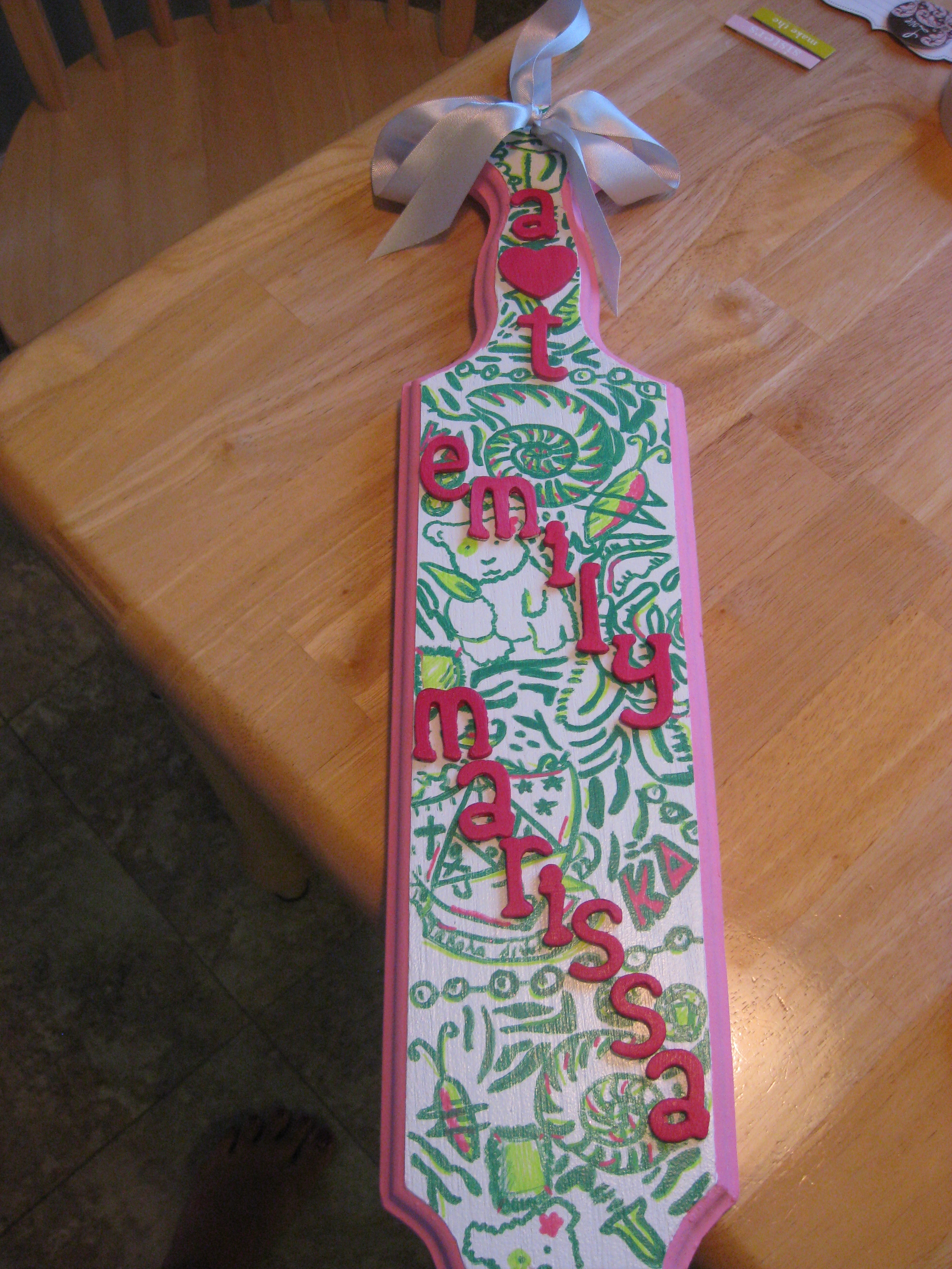 thought i d share an amazing paddle that my friend gabby made