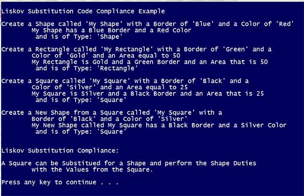LSP Console Compliance