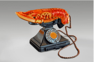 Salvador Dalí Lobster Telephone, 1938 West Dean College - part of The Edward James Foundation Group © Salvador Dalí, Fundació Gala-Salvador Dalí, Artists Rights Society (ARS), New York 2015