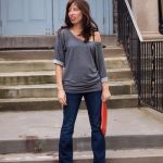 Shop Your Closet:  Pair Bootcut Denim With Off-The-Shoulder Tops