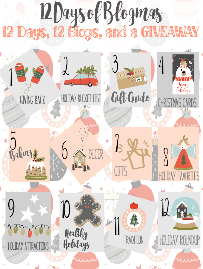 The 12 days of blogmas incorporates fun, holiday-themed writing prompts and one massive giveaway! Be sure to follow along and enter to win!
