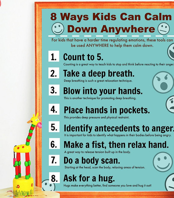calm down printable