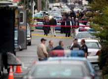A Cambodian granny shot and killed her son-in-law, two teenage grand-daughters, and herself yesterday in Seattle's worst shooting incident in years.