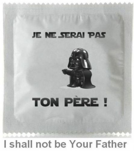 I Shall Not Be Your Father Condom