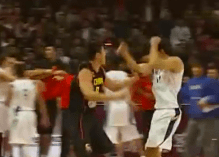 The Brazilian basketball team had come to challenge China on their home turf, on Tuesday. A serious brawl ensued after a particularly hard Brazilian foul.