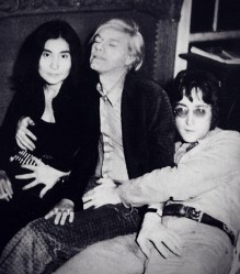 Yoko Ono, Andy Warhol, and John Lennon