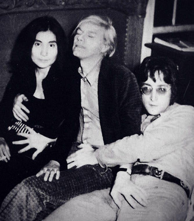 Yoko Ono, Andy Warhol, and John Lennon: Crotch Grabbing