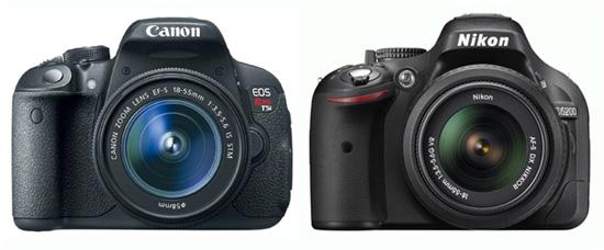 Canon 700D vs D5200
