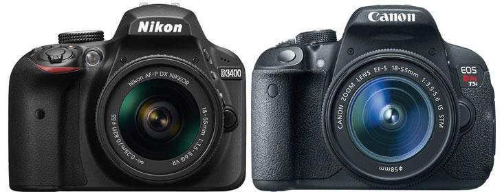 Nikon D3400 vs Canon T5i