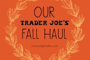 Our Trader Joe's Fall Haul