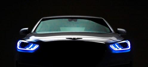 2017 Genesis G90 model overview car LED headlight