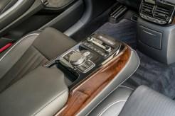 2017 Genesis G90 model overview passenger rear console controls