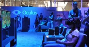Person testing an Oculus Rift