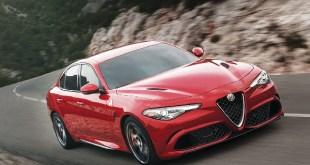 Alfa Romeo Giulia in red