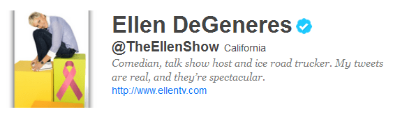 ellen 12 Funny And Witty Celebrity Twitter Bios