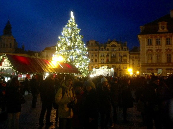 The Old Town Square Christmas Tree in all of its glory!
