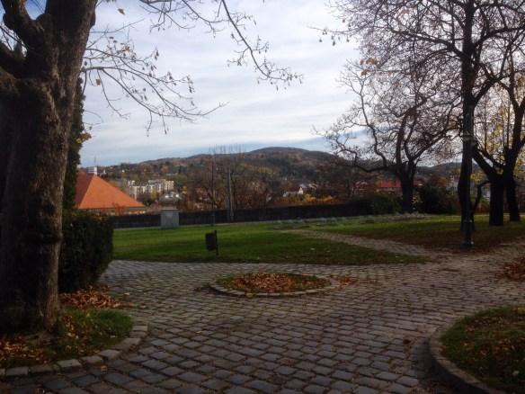 Esztergom from the Basilica's courtyard.