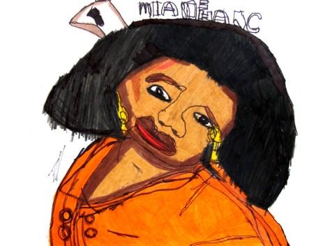 Jaymee Howarth, Oprah, pencil crayon on paper