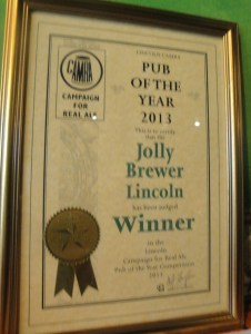 Lincoln Camr Pub of the Year 2013