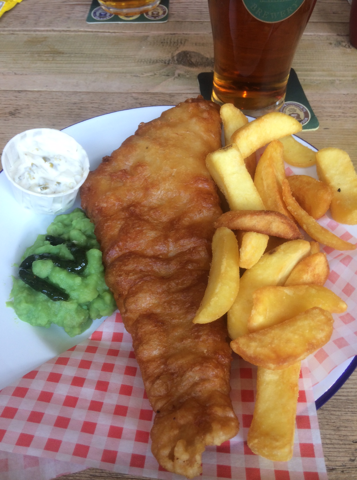 A Fish and Chip Friday at the Frame Breakers