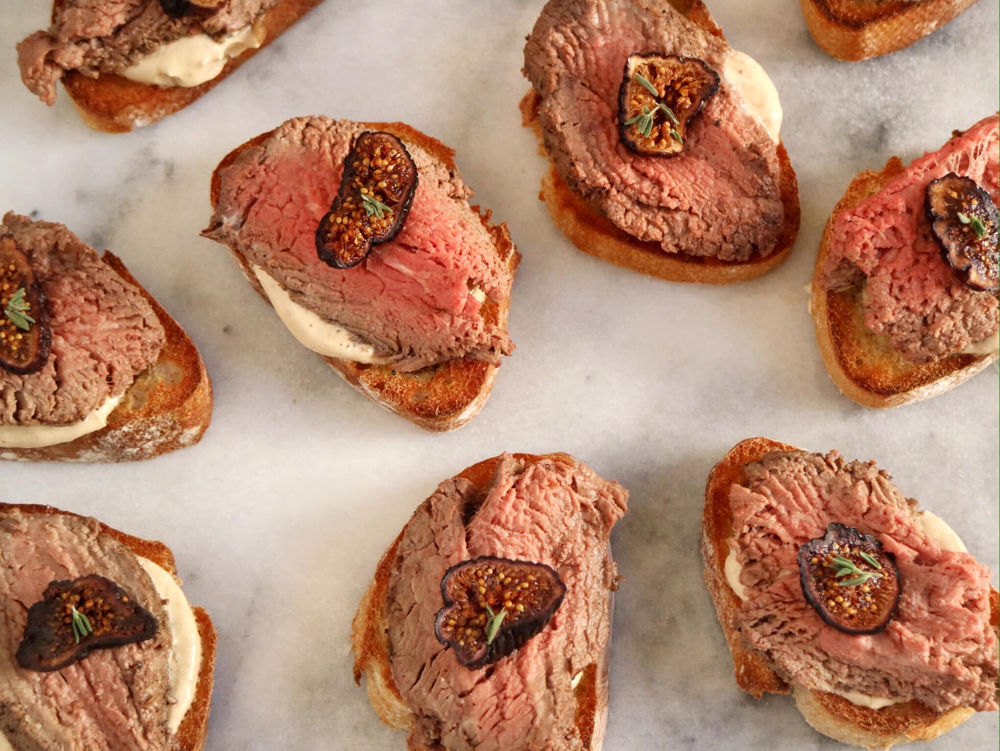 Beef Tenderloin & Fig Crostini