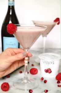Raspberry Pomegranate Icelandic Martini