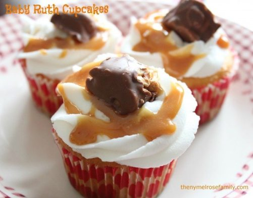 Baby Ruth Cupcakes