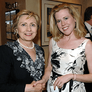 Kristin Oblander and Secretary of State Hillary Clinton