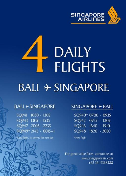 Singapore Airlines Bali