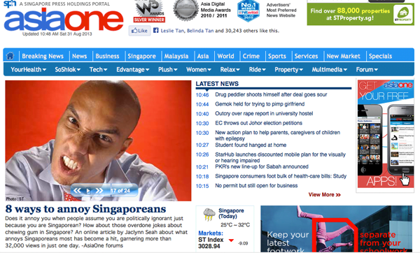 How To Piss Off A Singaporean - AsiaOne