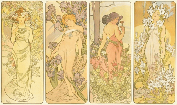 Mucha Flower Series