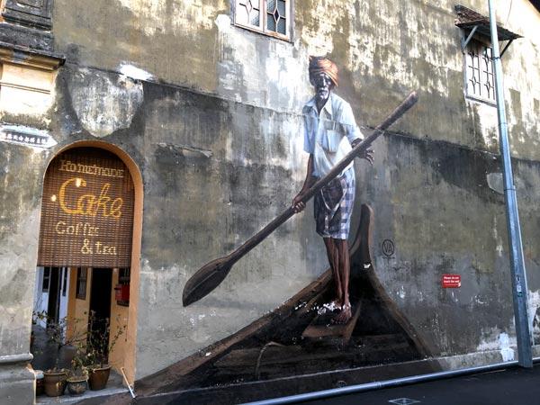 Penang Street Art - Lorong Stewart Boatman JuliaV