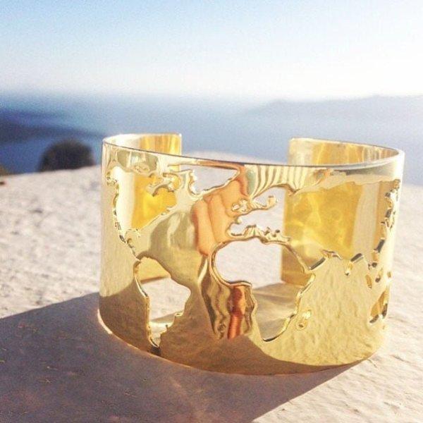 Artelier World Cuff Gold Greece
