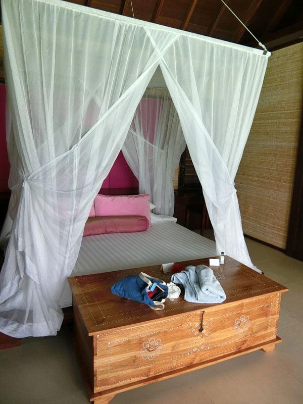 Club Med Kani Maldives Lagoon Suite Bed