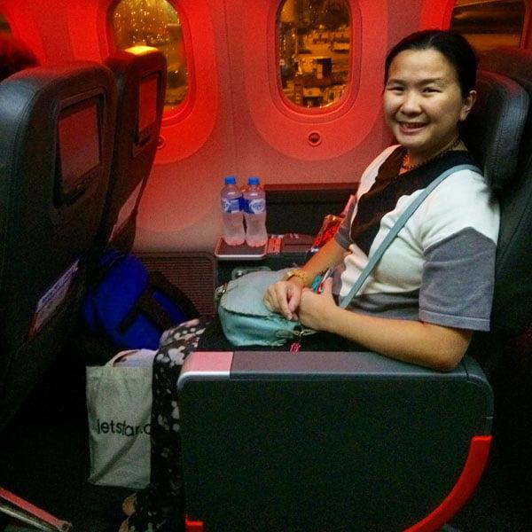 Jetstar Melbourne Night Seat