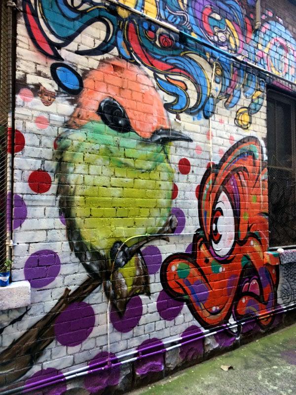 Melbourne Street Art - Blender Bird Dem