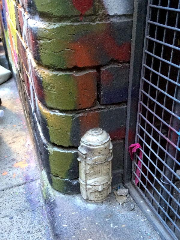 Melbourne Street Art - Spraycan face