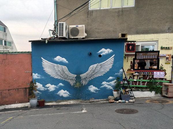 Seoul Ihwa Mural Village Angel Wings
