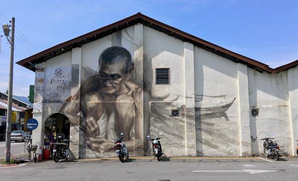 Penang Street Art - Balik Pulau Fisherman JuliaV