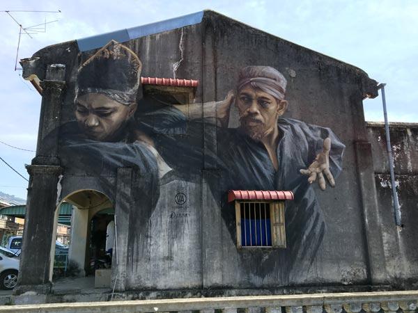 Penang Street Art - Balik Pulau Silat Master JuliaV