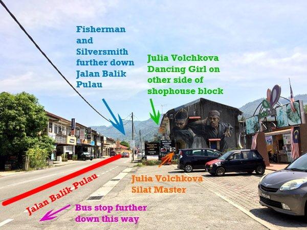 Penang Street Art - Balik Pulau Wayfinding 2