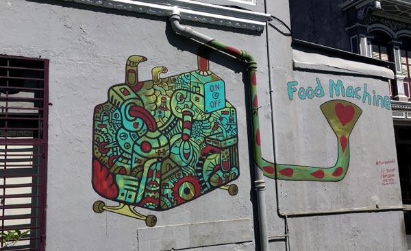 Penang Street Art - Jalan Nagore Fauzan Faud Food Machine