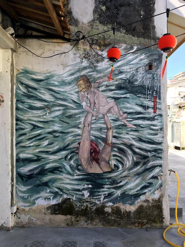 Penang Street Art - Jalan Nagore Love Mothers
