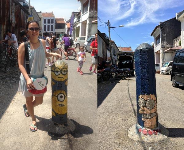Penang Street Art - Lorong Soo Hong 2014 vs 2016