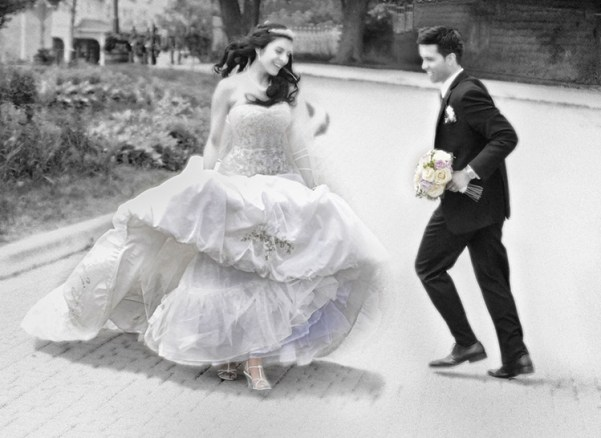Black and White Wedding Photography in Toronto