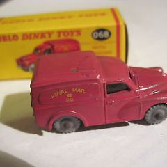 Dublo dinky toys Royal Mail van diecast with windows, boxed, ref 068