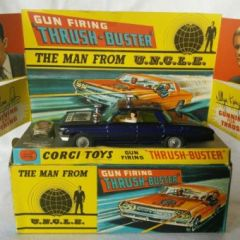 CORGI TOYS 497 – THE MAN FROM UNCLE THRUSHBUSTER – BOXED WITH WAVERLY RING