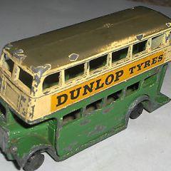 DINKY TOYS PRE WAR DUNLOP DOUBLE DECKER BUS