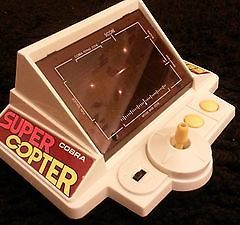 vintage computer game electronic tyco 1980s pacman super copter cobra handheld